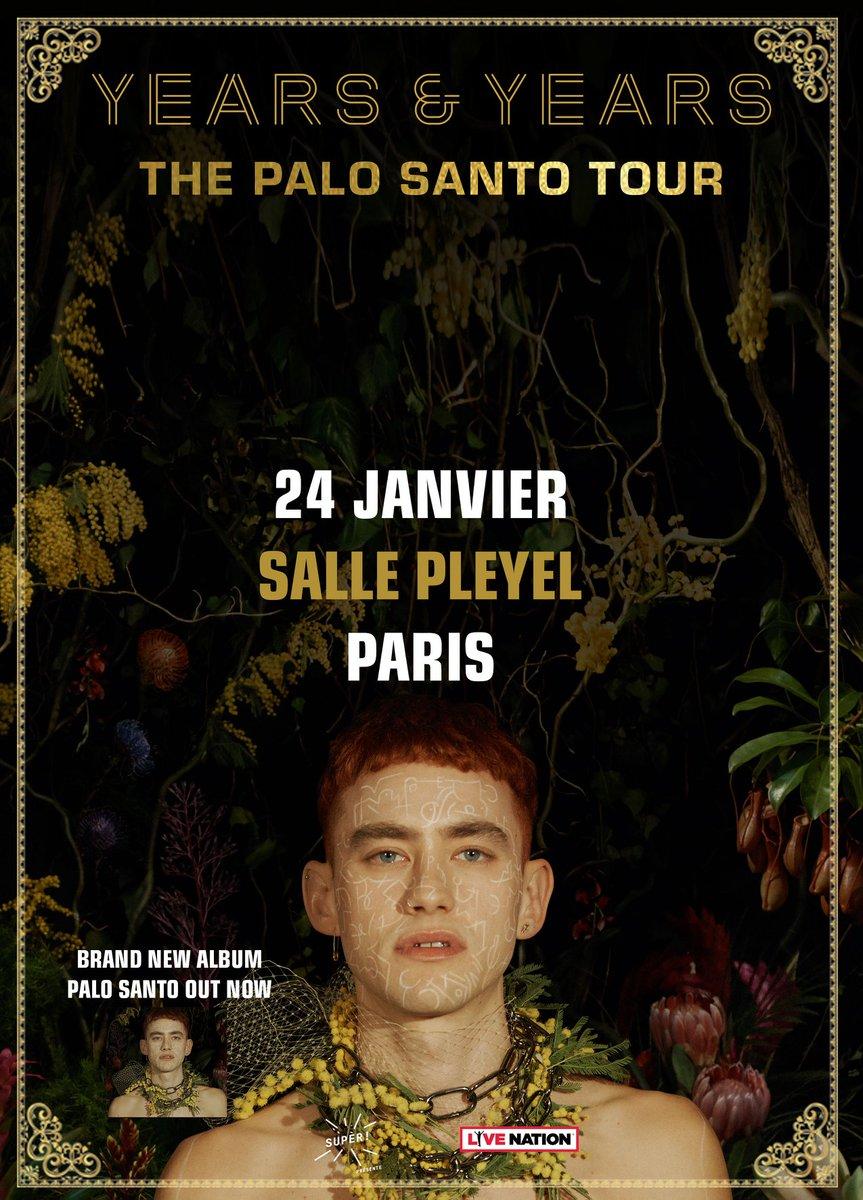 "[ANNONCE] @yearsandyears - jeudi 24 janvier - @sallepleyel ""The Paolo Santo Tour"" -  [MISE EN VENTE] Mercredi 25 juillet à 10H sur https://t.co/7H1VqkDjn9 [BILLETTERIE SALLE PLEYEL] https://t.co/j8IkJ"