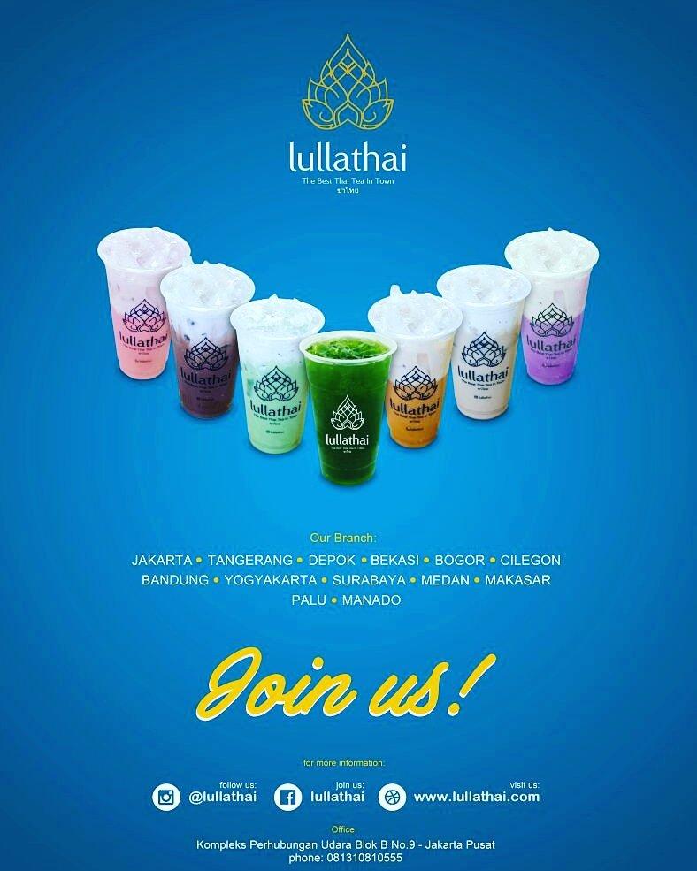 "Info Franchise & Business Concept Expo on Twitter: ""#franchiseprofile : LULLA THAI TEA . Berdiri pada Januari 2017 di Jakarta, Lulla Thai Tea bermula dari product development dan market reaserch dari Bazzar"