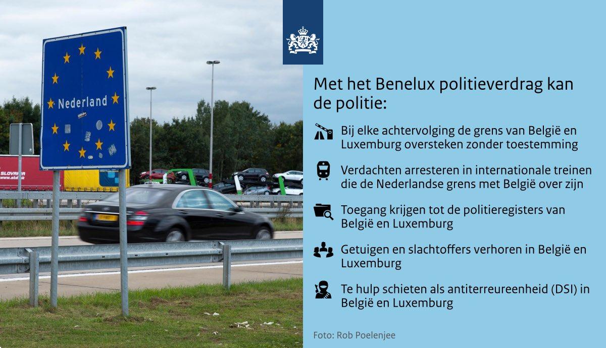 test Twitter Media - Zojuist het Benelux-politieverdrag ondertekend. Criminelen laten zich niet stoppen door landsgrenzen, dus onze politie ook niet. Zo kunnen we beter een vuist maken tegen drugstoerisme, terrorisme of mensenhandel. https://t.co/7D1buIiZcb https://t.co/3I1TwY1Cec