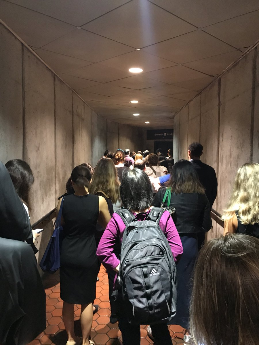 DuPont circle metro has one functioning escalator and now a massive line at the one functioning elevator