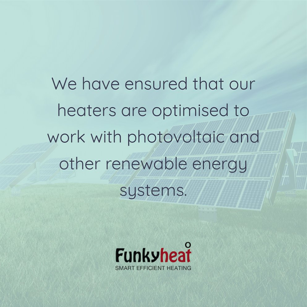 In considering the future requirements for our infrared heaters we have ensured that our heaters are optimised to work with photovoltaic and other renewable energy systems. #EcoFriendly #Green #Heating