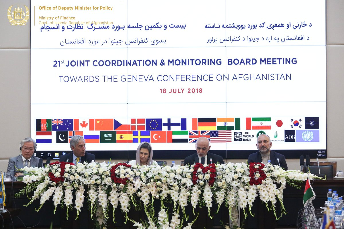 The 21st Joint Coordination & Monitoring Board meeting took place on 18th July 2018 at @ARG_AFG with the participation of high ranking govt. officials, ambassadors and heads of donor agencies. All materials for #JCMB2018 can be downloaded from here: bit.ly/jcmb2018