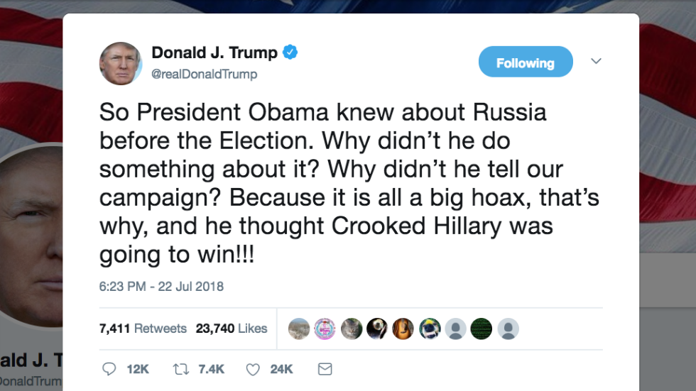 "Trump again calls Russian interference a 'big hoax' after claiming to support US intelligence"" https://t.co/PrUzZVJLdT"