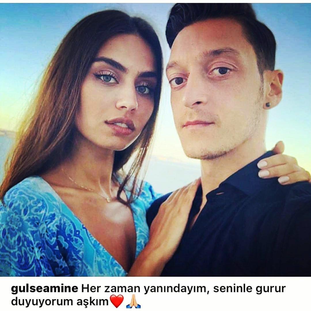 Amineden nişanlısı Mesut Özile destek