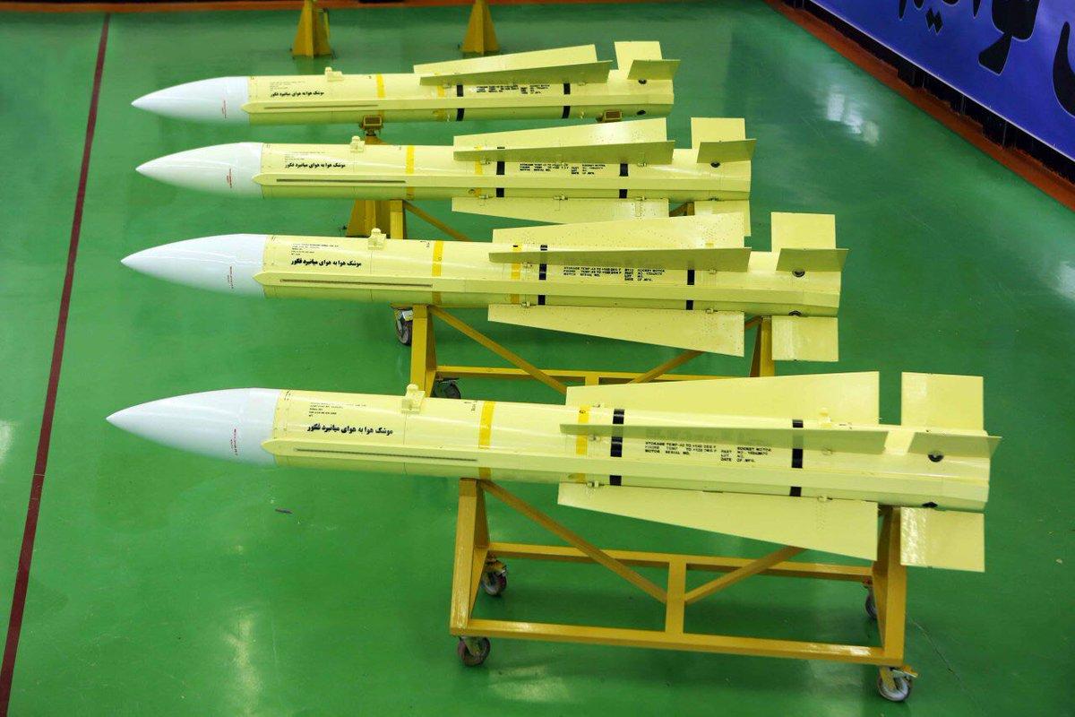Míssil ar-ar Fakour-90 desenvolvido pelo Irã para equipar seus F-14