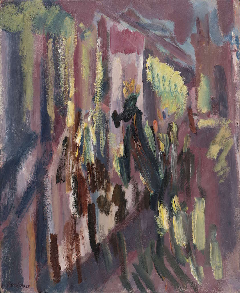 David Bomberg, The Virgin of Peace in Procession through the Streets of Ronda, Holy Week, 1935, Oil on canvas, The Syndics of Fitzwilliam Museum, University of Cambridge   © The estate of David Bomberg, the Bridgeman Art Library