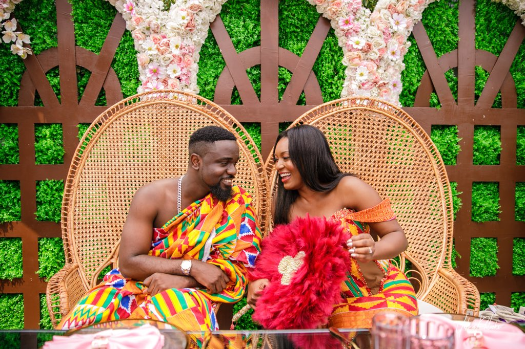 EXCLUSIVE: Photos from Sarkodie and Tracy's traditional wedding