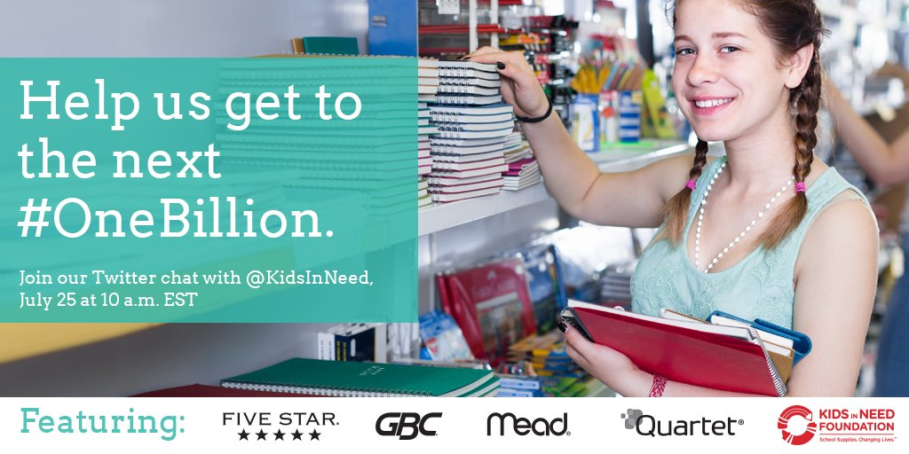 This back-to-school season, help those without. Donate to @KidsinNeed at https://t.co/t47El0MS3D. Learn more during our Twitter chat on 7/25 at 10 AM EST https://t.co/RhVQH7aOeM