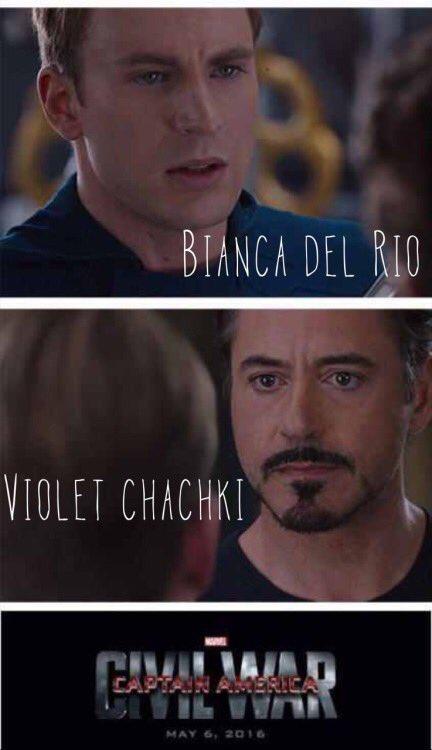 I can see @ChrisEvans' #CaptainAmerica be a @TheBiancaDelRio fan. #rupaulsdragrace #DragRace #MCU #MarvelSDCC #AvengersInfinityWar #Avengers4