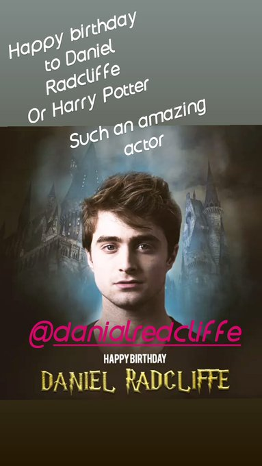 Happy birthday to such an amazing actor  Harry Potter