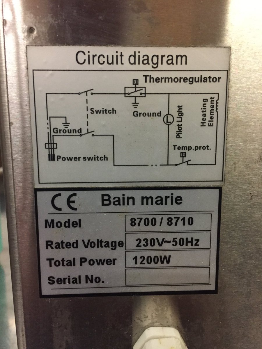 Mac Daddies On Twitter Yo Got 3 Electric Bain Maries For Sale Electrical Circuit Diagram Minus The Gastros If Interested Drop Us A Message Please Rt