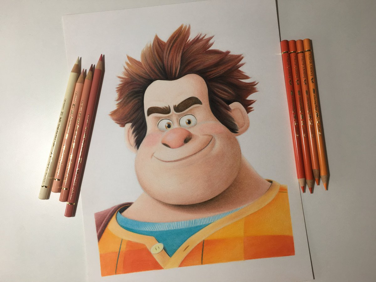 Tom lucitor on twitter wreck it ralph colored pencils drawing