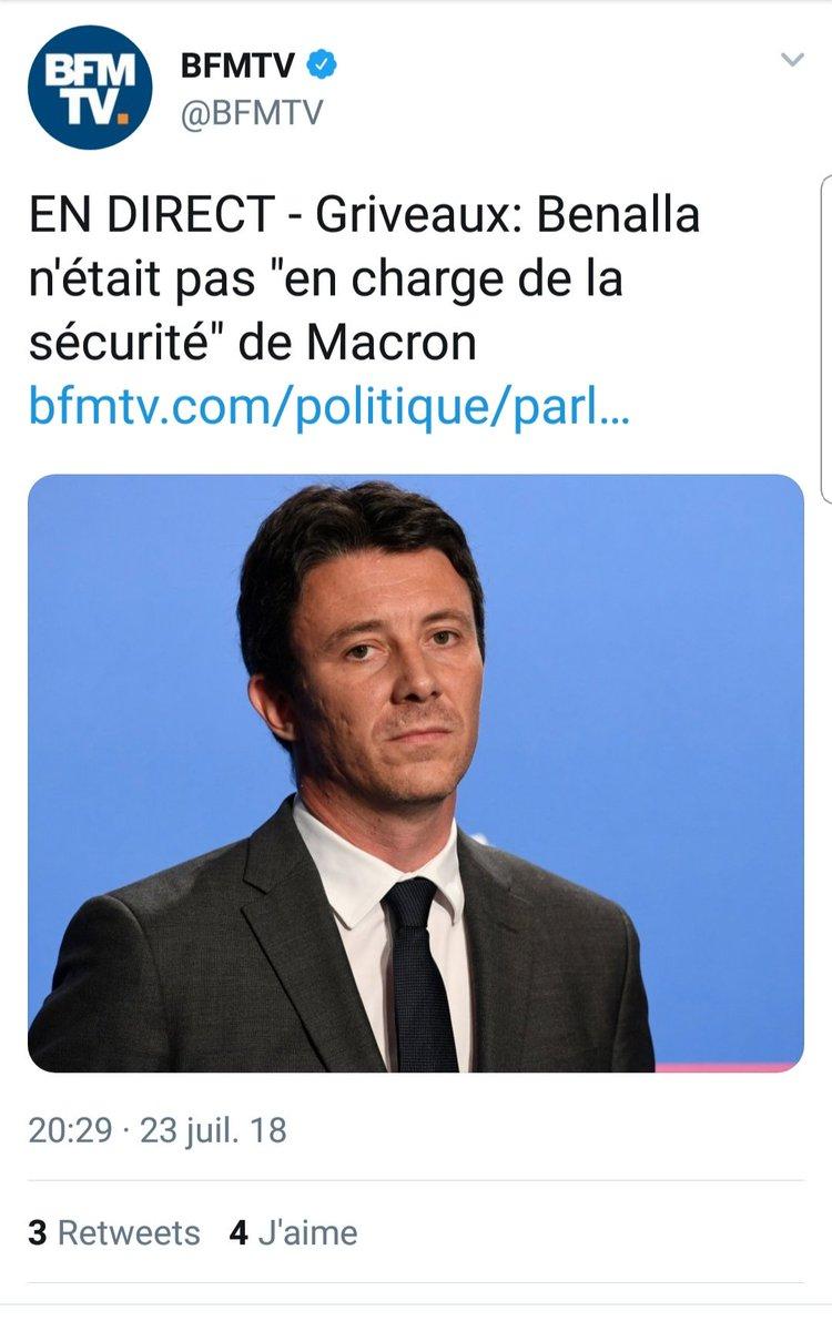 Charge De La Scurit Macron Heureusement Quon A Carte Visite AlexandreBenalla Sinon Demain Certains Diraient Quil Na Jamais Travaill