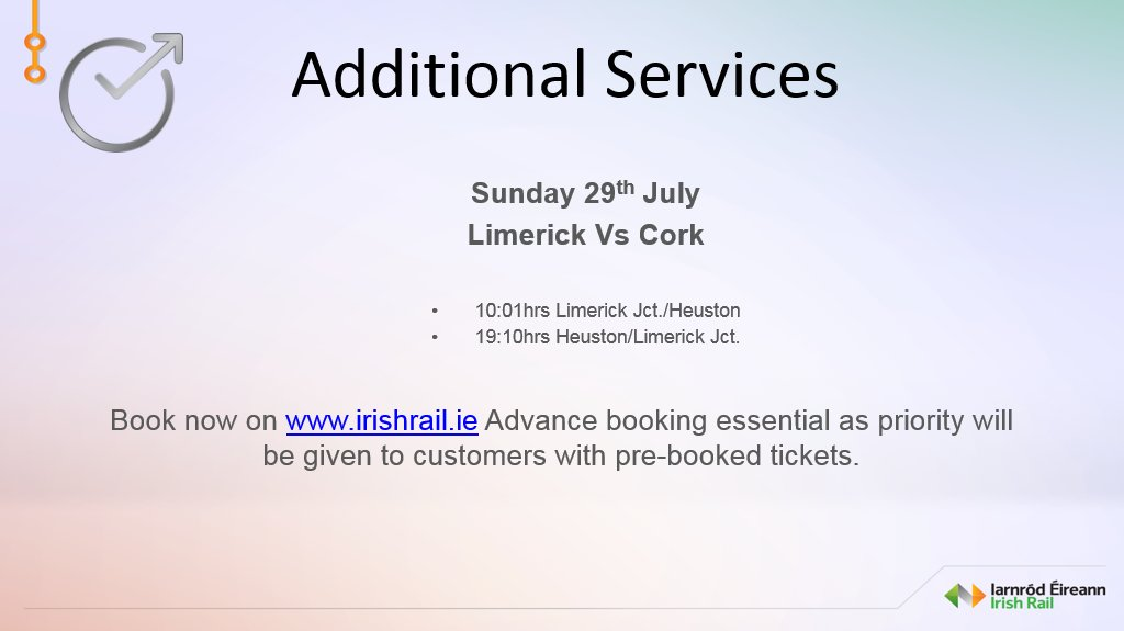 4edefd2c3983 ... from Lim Jct to  CrokePark awaiting confirmation on additional services  for  OfficialCorkGAA supporters
