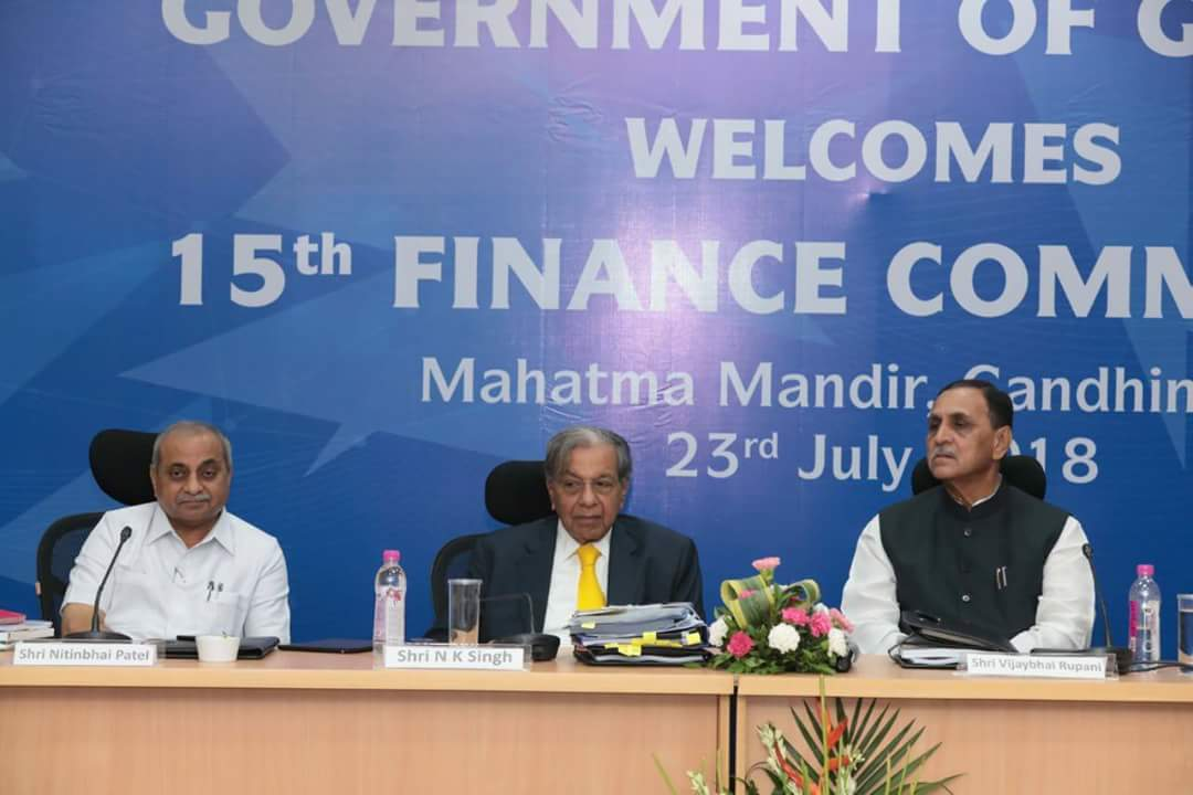 Include states' performance as criteria and encourage it: Rupani to Finance Commission
