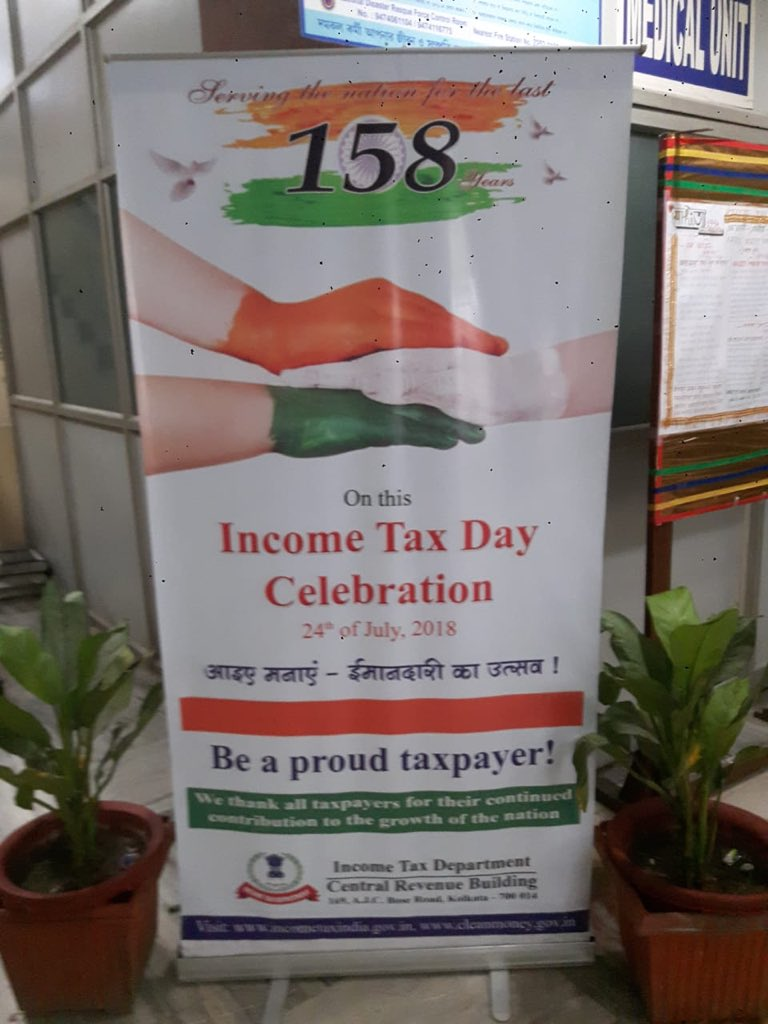 Wishes to everyone on the eve of 158th #IncomeTaxDay which was introduced by James Wilson on 24th July 1860. My salute to every Taxpayer coz without you  won't run. Be proud!! #ईमानदारी_का_उत्सव #Kolkata is the birth place of @IncomeTaxIndia<br>http://pic.twitter.com/Pbgz1KgNXV