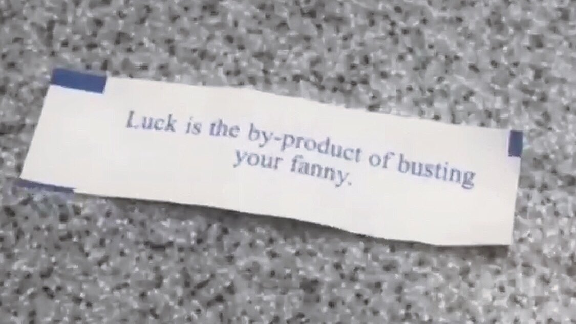 this fortune cookie doesn't translate well if you're british