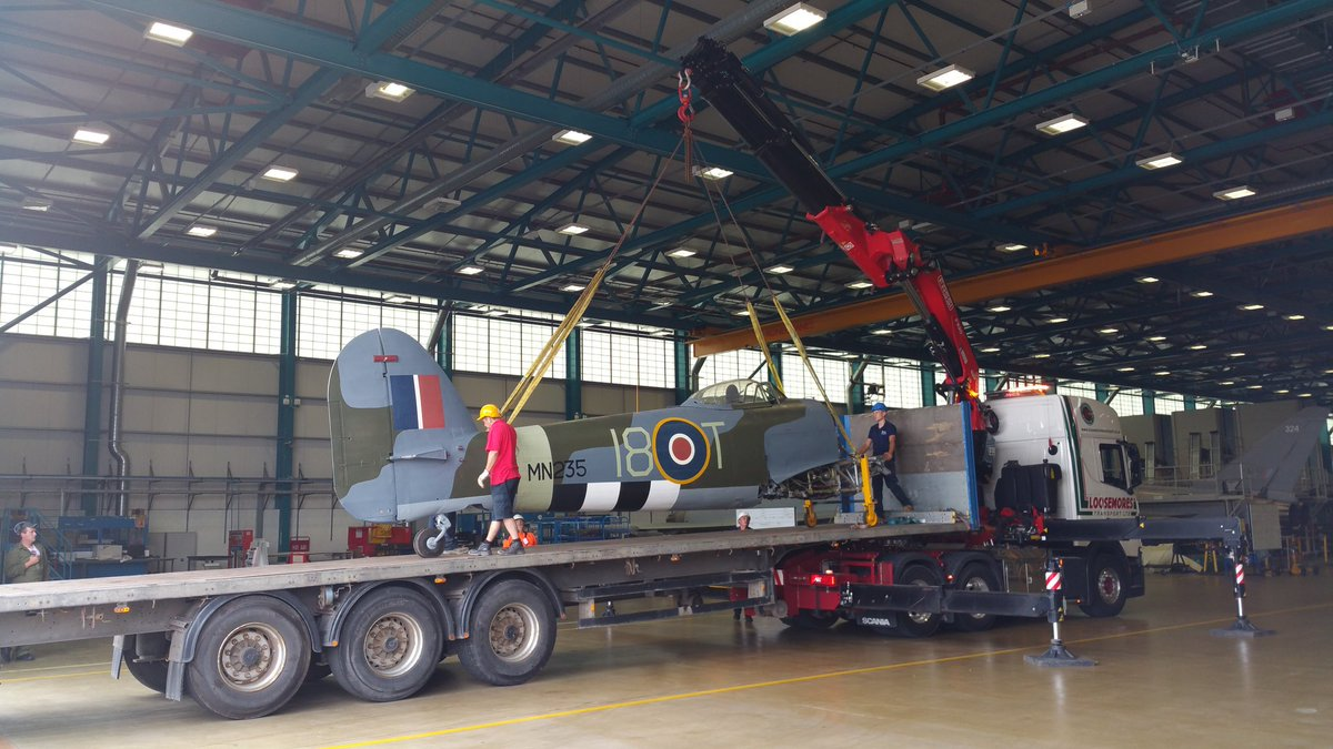Raf coningsby on twitter typhoon mn235 has arrived the rafmuseum the rafmuseum aircraft will be assembled over the next couple of days and will then be on display in the rafbbmf hangar from next week altavistaventures Choice Image