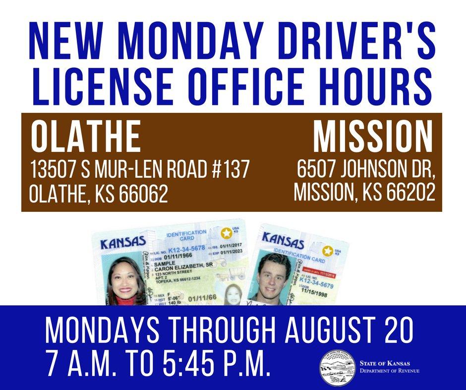 kansas drivers license renewal mission