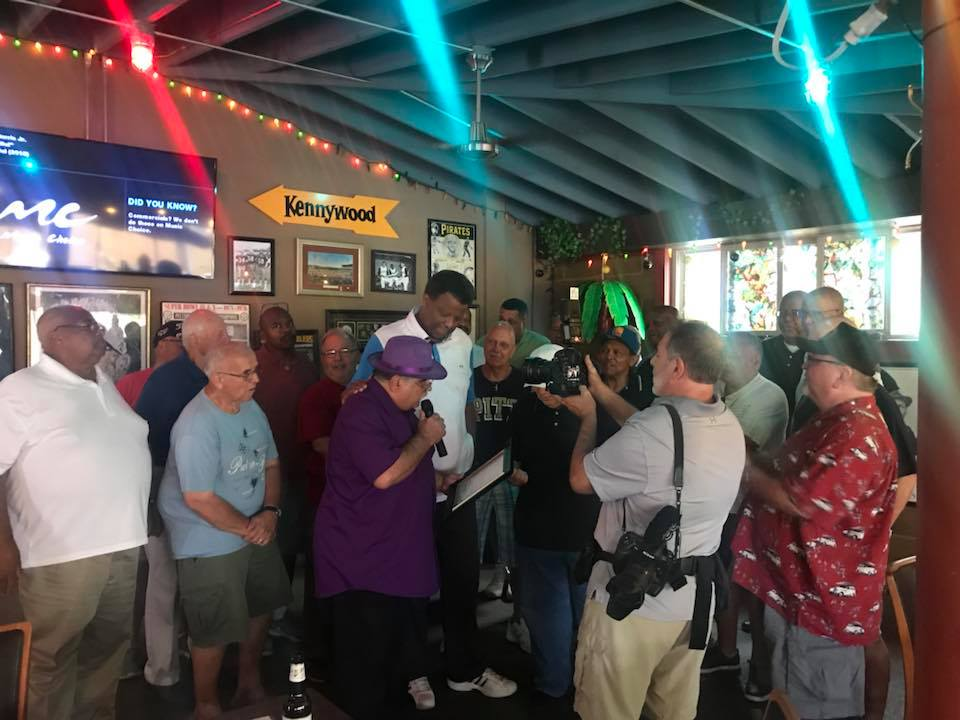 @BraddockBorough honored Billy Knight on 7/21/18! A celebration occurred at @PortogalloPeppersNAT. <br>http://pic.twitter.com/UeiF28QPVc