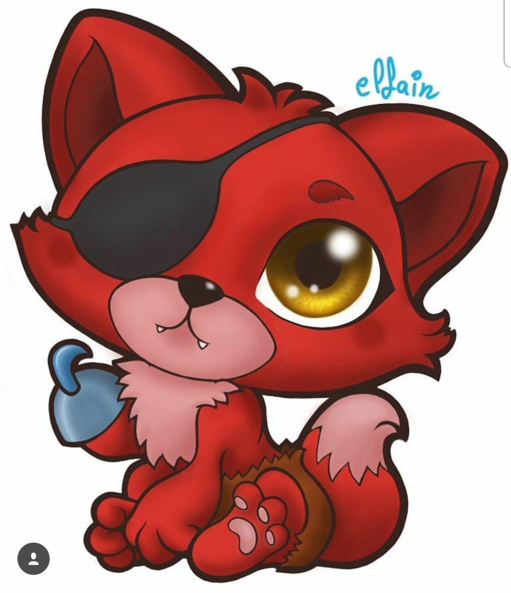 Elfain On Twitter Chibi Pirate Foxy Watch Painting