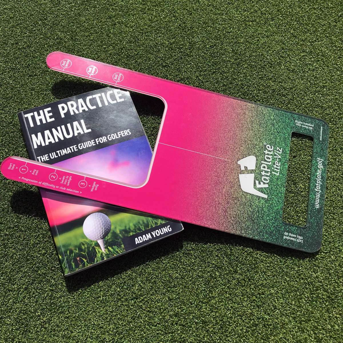 For a chance to win an @fatplate.golf LIte-Viz Hot Pink & a copy of The Practice Manual by @adamyounggolf then all you have to do is: 1. Follow Us 2. Follow Adam 3. RT, Like, Share etc.  #practicesmarter #ballthenturf #arevolutionhasarrived #asseenonthegolfchannel
