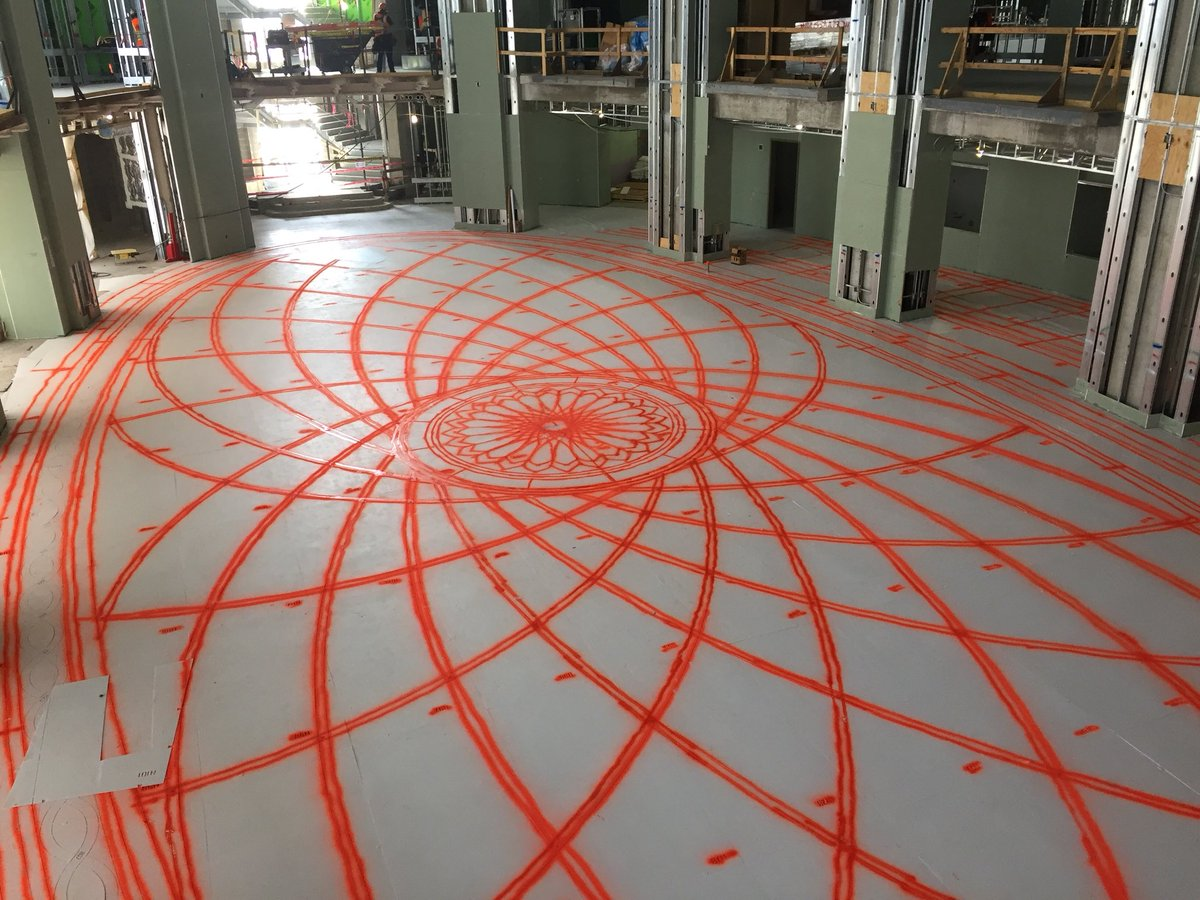 Dickies Arena On Twitter We Re Stenciling The Terrazzo In