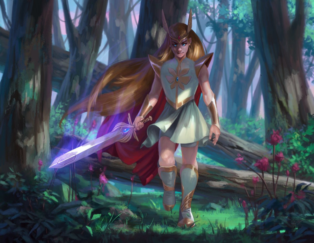 test Twitter Media - A little late to the party, but all of the amazing #SheRa #fanart made me want to paint one of my own. https://t.co/nq9wOW9PVX