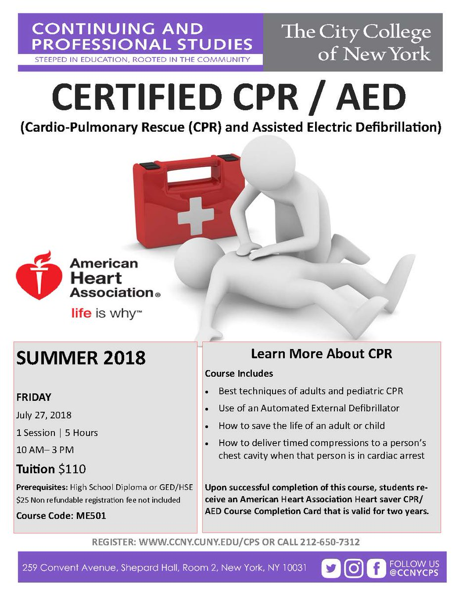 Ccny Cps On Twitter In Our Certified Cpr Class Students Learn