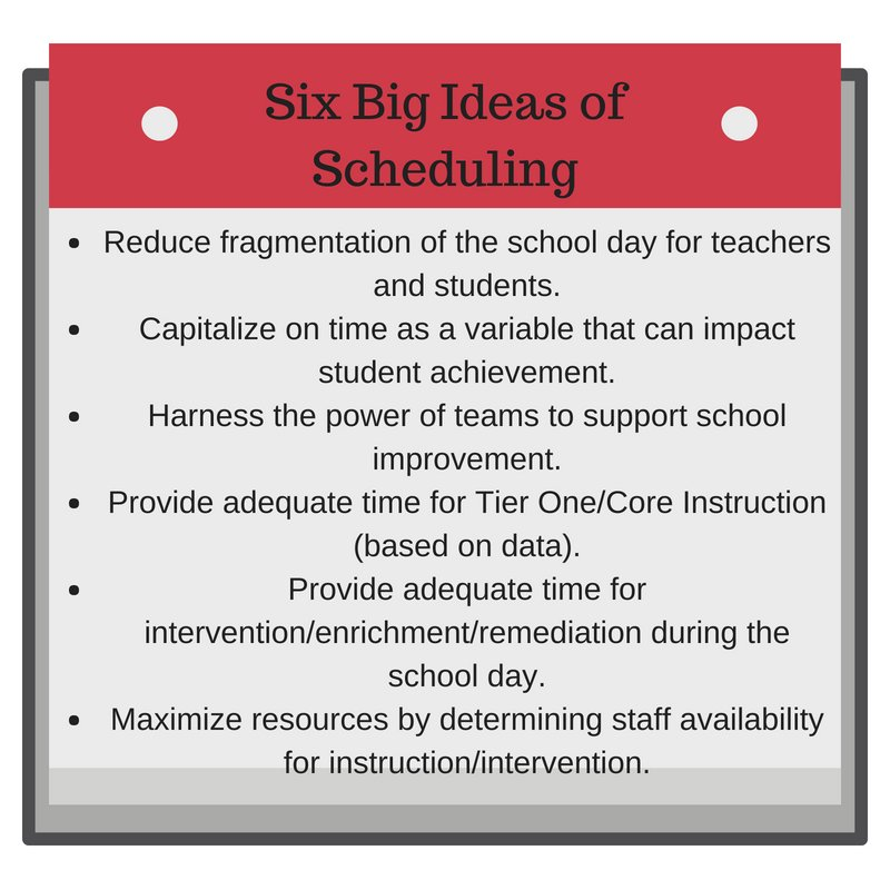 Ncdpi Mtss On Twitter How Important Is Scheduling In Building A