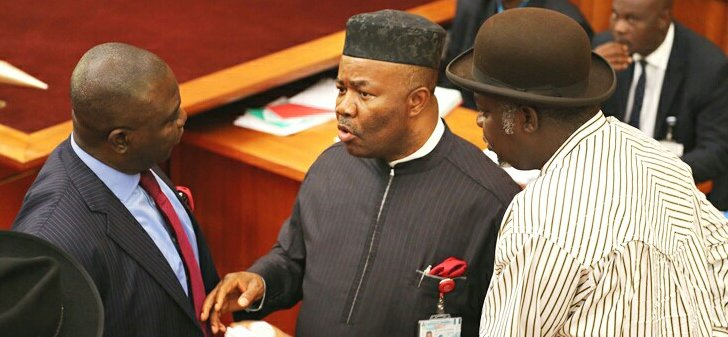 Resignation letter of Senator Akpabio as Senator Minority Leader of National Assembly