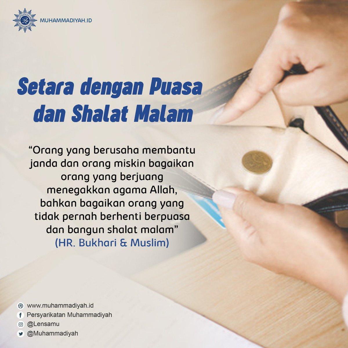 Muhammadiyah No Twitter Orang Yang Berusaha Membantu Janda Dan Orang Miskin Bagaikan Orang Yang Berjuang Menegakkan Agama Allah Swt Muhammadiyah Quote Https T Co Bhbdzhlqyf