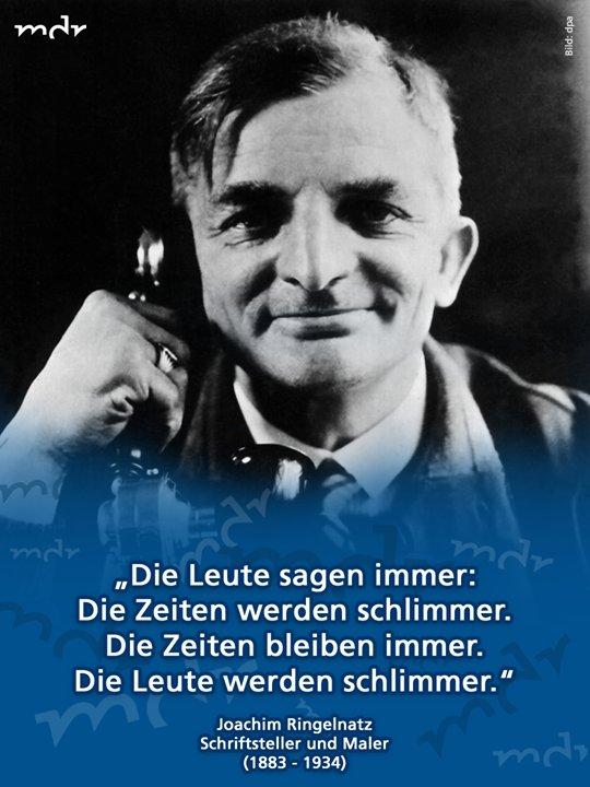 Mdr On Twitter Joachim Ringelnatz War Für Seine