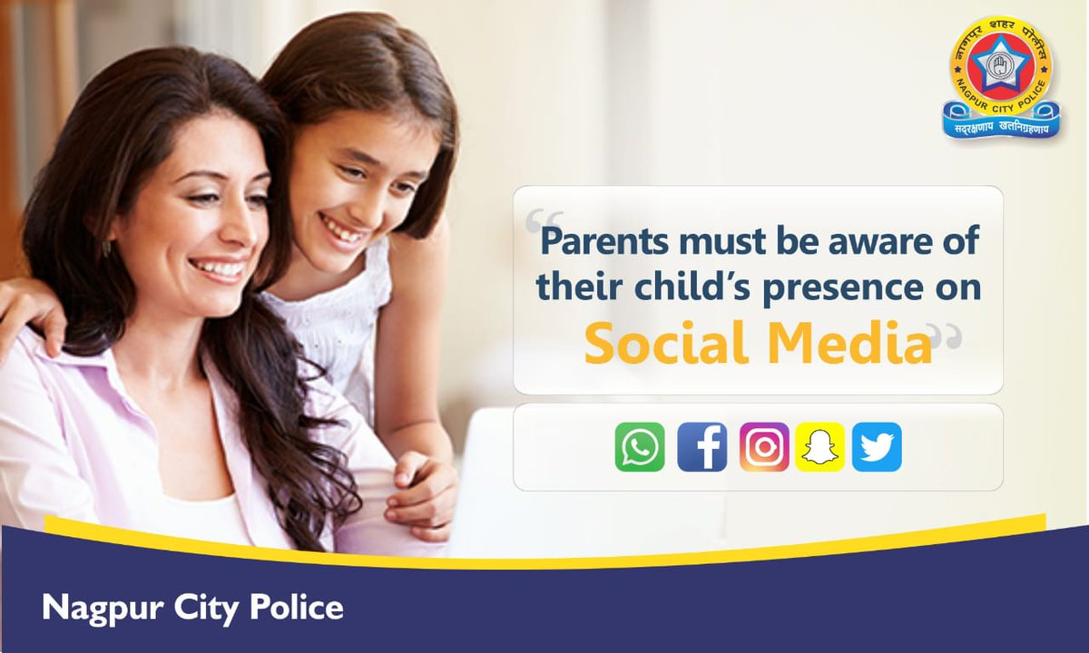 Parents should be aware of their child's presence on #socialmedia  This will help them to track their activities and identify #Fakeprofile if circulated under his/her name <br>http://pic.twitter.com/V4EXLQsDgy