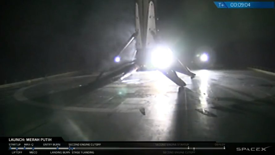 Falcon 9 first stage has landed on the Of Course I Still Love You droneship.