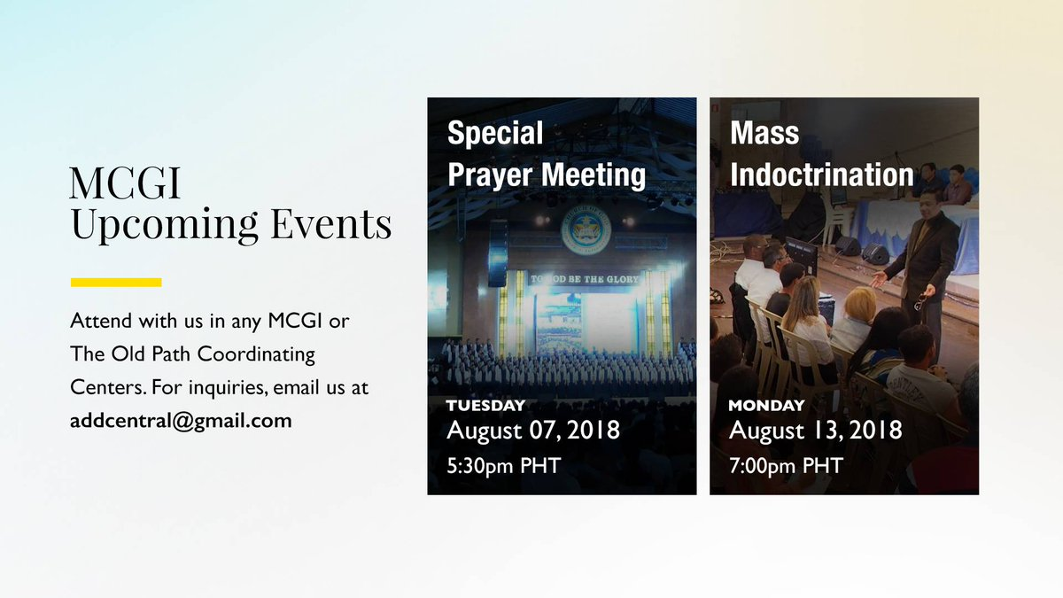 Ang dating daan mass indoctrination plugging