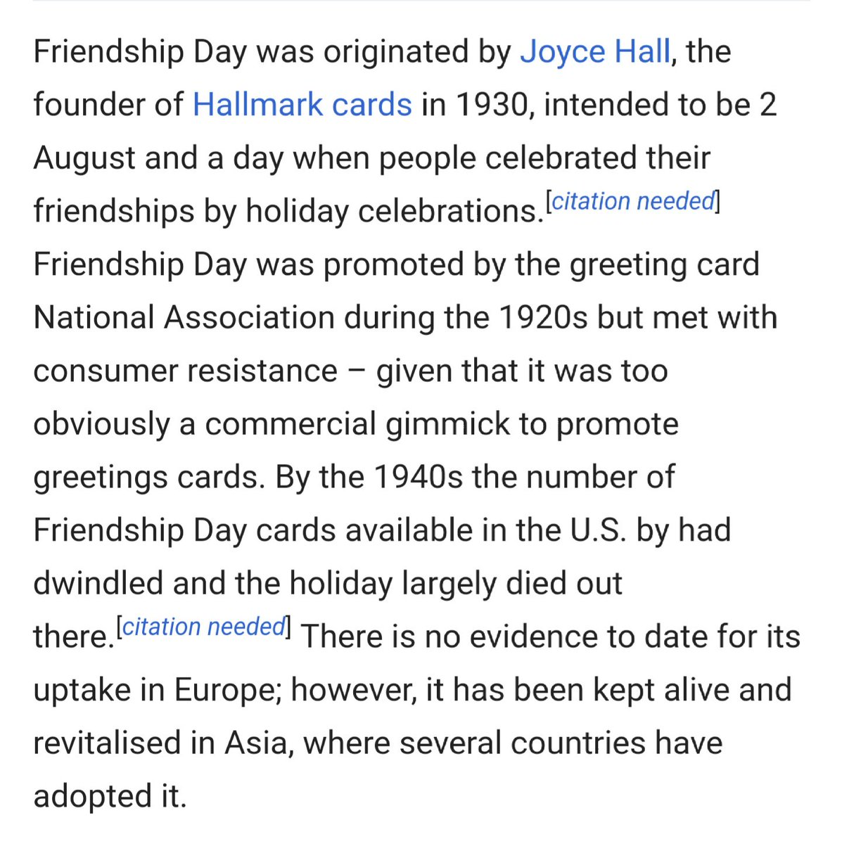 Abhishek Mishra On Twitter Friendship Day Was Promoted During
