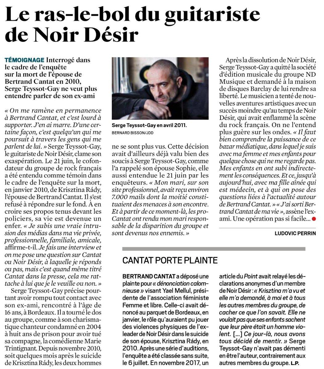 Le ras-le-bol de Serge Teyssot-Gay, ancien guitariste de Noir Désir #Cantatin #JDD  - FestivalFocus