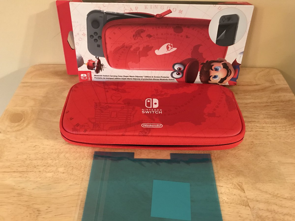 Jps Switchmania On Twitter Sunday Funday Contest To Win This Nintendo Switch Carrying Case Screen Protector Official Super Mario Odyssey Pouch And All You Have Do Is Follow Me Like Rt