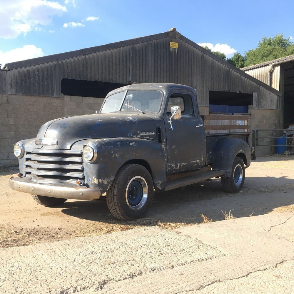 Uk Classic Cars On Twitter Ebay 1949 Chevy Pick Up Truck Running Project Hotrod Rat Rod Lhd Classic Https T Co D9cii2ly3i