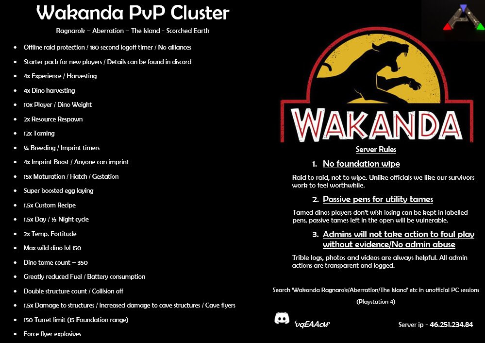 Wakanda PvP Cluster (@ClusterPvp) | Twitter