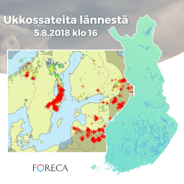 Foreca Suomi On Twitter Komea Ukkosjono Ruotsin Puolella