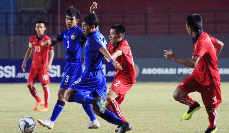 Timnas Thailand U-16 Vs Laos U-16 (Twitter/AFFPresse)