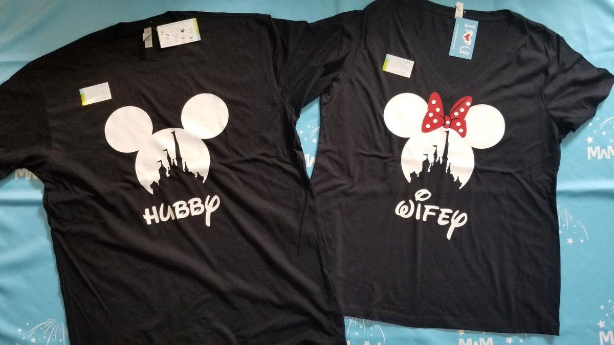f52467e75b #Hubby and #Wifey Matching Couple Shirts, Mickey Minnie Mouse Heads,  @MickeyMarriedpic.twitter.com/z7WQVfiCYL