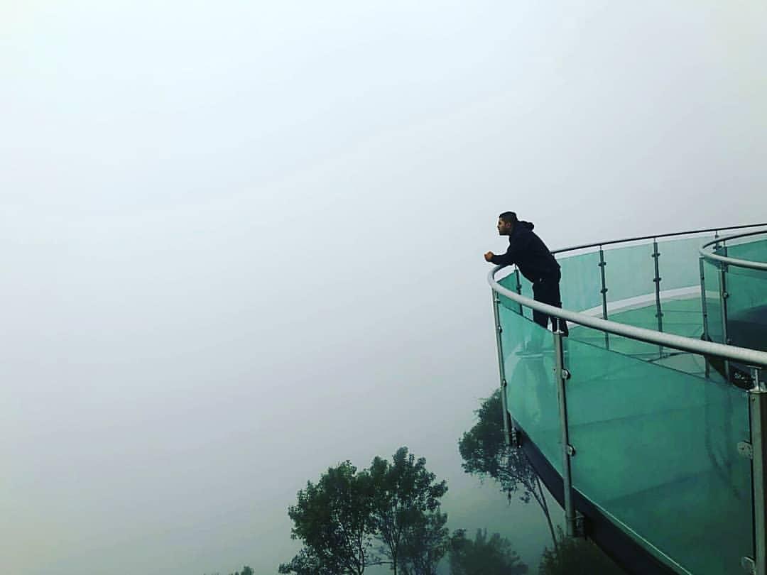 El mirador de cristal de Zacatlán está suspendido a 440 metros.