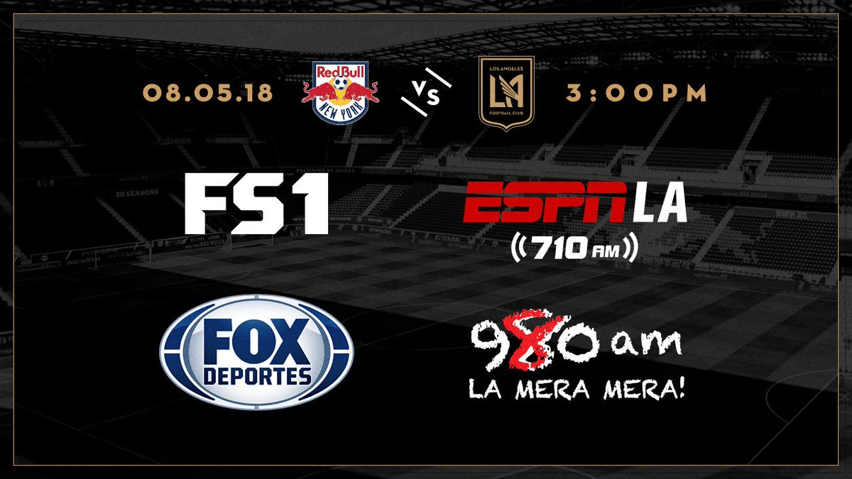 New York Red Bulls Vs Los Angeles Fc Major League Soccer 2018