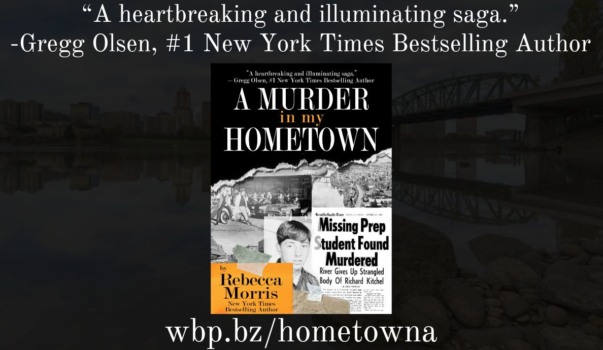New York Times bestselling author Rebecca Morris returned to her hometown to write about how the 1967 murder of Dick Kitchel changed the town and the lives of Dicks friends, forever. Buy A MURDER IN MY HOMETOWN: wbp.bz/hometowna