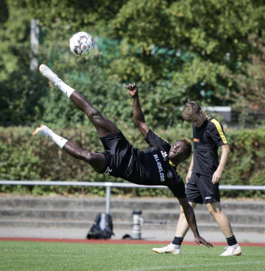 Moussa Koné à l'entraînement
