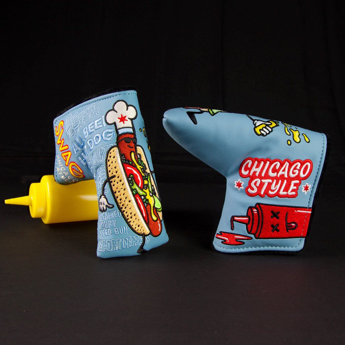 Our new Chicago Style covers don't taste as good a real Chicago Dog, but they sure look as good. #chicagostyle #headcover<br>http://pic.twitter.com/14dvTHIRob