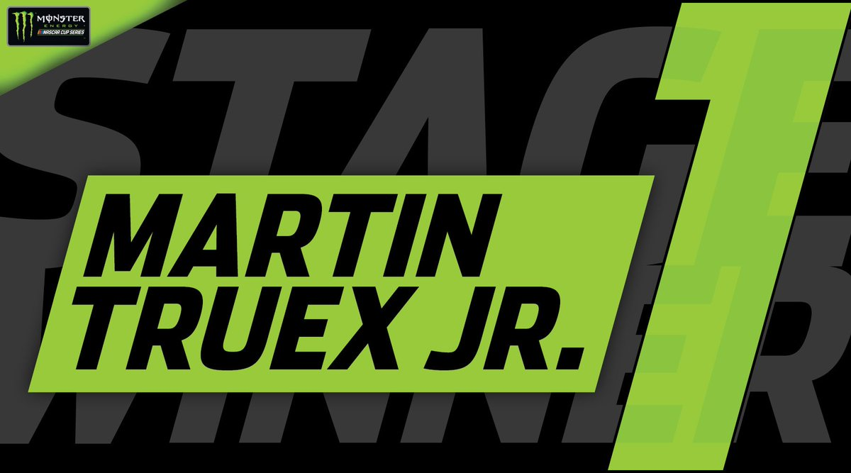 STAGE WINNER: @MartinTruex_Jr picks up the playoff point and wins Stage 1  at @